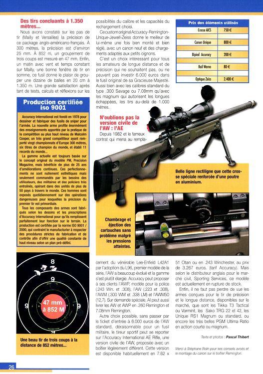 Action Armes & Tir n°301 septembre 2006 - Page 26 - 27