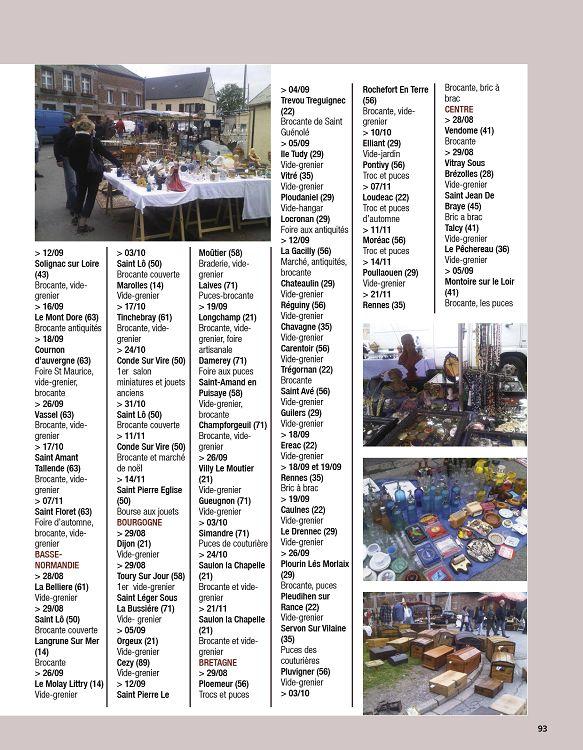 Calendrier Troc Et Puces 56.Antiquites Pratique N 5 Sep Oct Nov 2010 Page 92 93