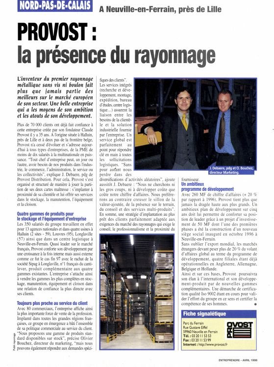 Entreprendre N121 Avril 1998 Page 126 127
