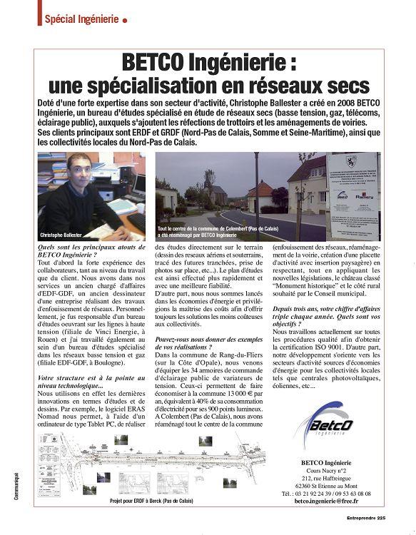 Entreprendre N 258 Mars 2012 Page 224 225 Entreprendre N 258