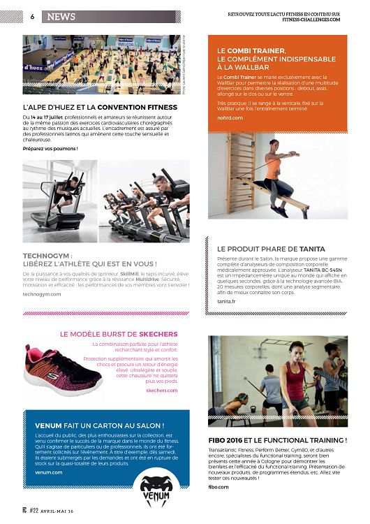 Fitness Challenges n°22 avr mai 2016 - Page 6 - 7 - Fitness ... 17f0215036c