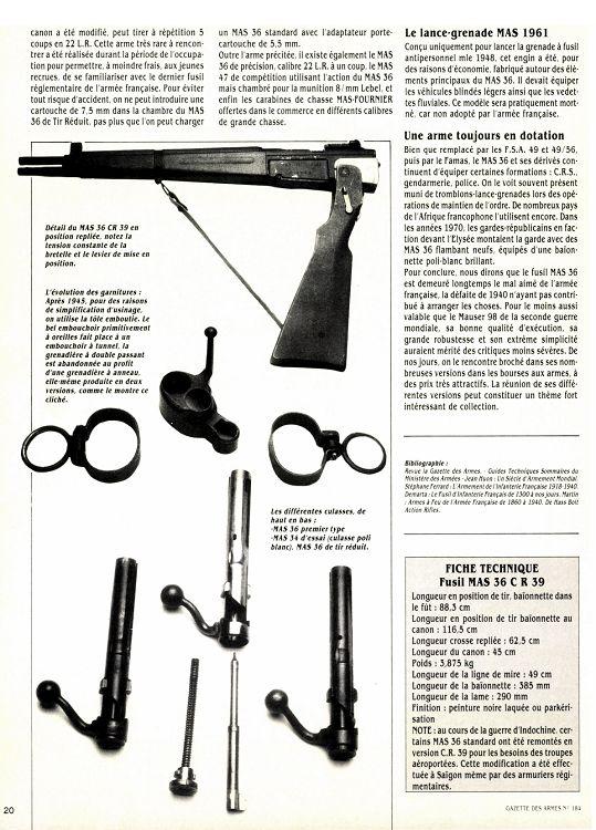 Gazette des Armes n°184 décembre 1988 - Page 20 - 21