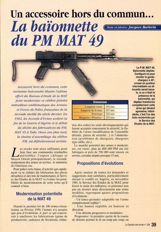 PISTOLET MITRAILLEUR DE 9 mm (MODELE 1949) - Page 2 18937-GazettedesArmes-345-Page-039