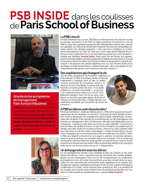 Grandes Écoles et Universités n°83 déc 18jan 2019 Page 74