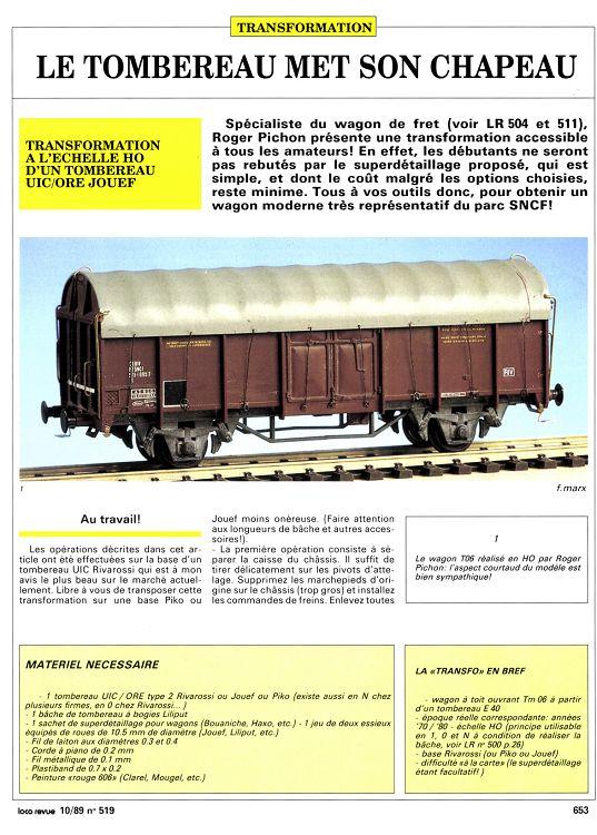 forums lr presse voir le sujet klein modellbahn roco wagons t et tm 06. Black Bedroom Furniture Sets. Home Design Ideas