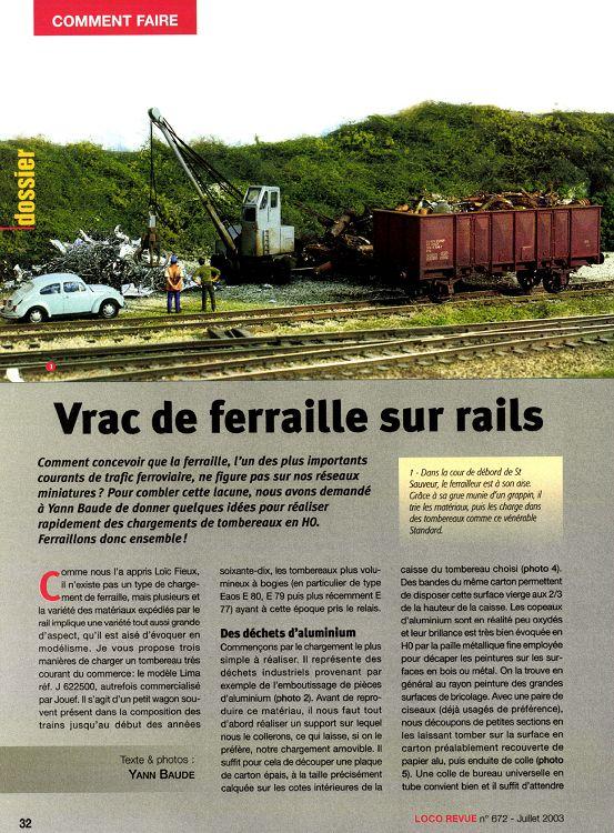 Loco Revue N 609 Decembre 1997 Page 32 33 Loco Revue N 672 Juillet 2003 Loco Revue Modelisme Autres Loisirs 1001mags Magazines En Pdf A 1 Et Gratuits