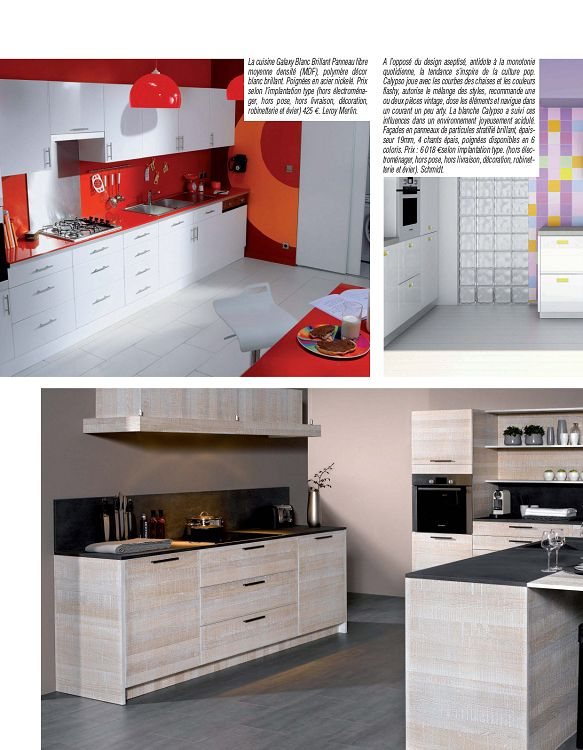 Inspirations de cuisine inspirations de cuisines - Implantation type cuisine ...