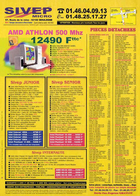 Micro Achat N39 Décembre 1999 Page 440 441 Micro