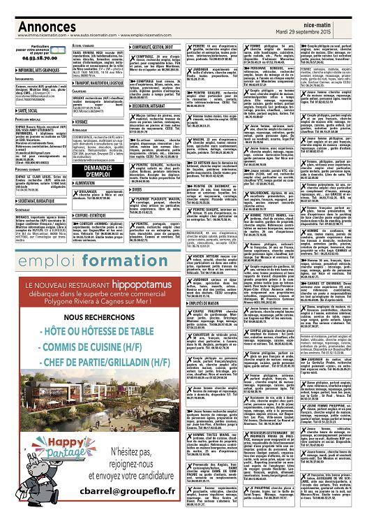 Annonces www immo nicematin com www auto nicematin com www emploi nicematin com particuliers 73 passer votre annonce et payer par 04 93 18 70 00 e