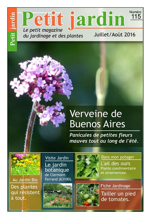 Petit jardin n 115 jui ao 2016 page 1 petit jardin n - Petit jardin tropical clermont ferrand ...