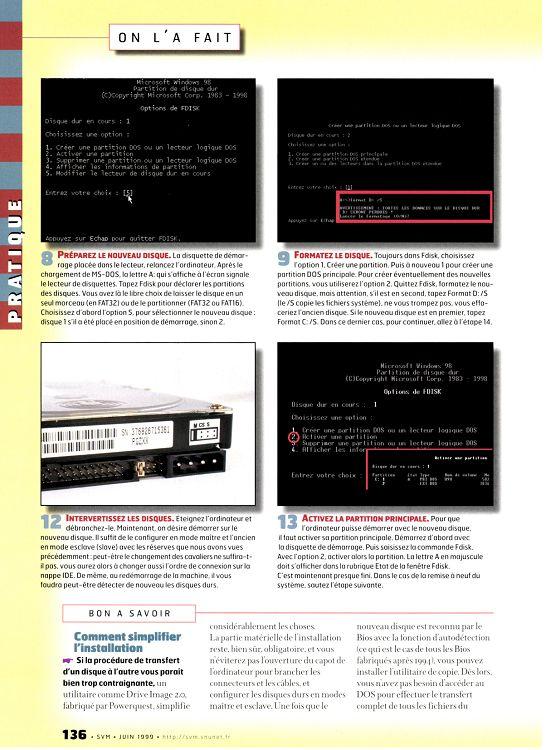 Partition étendue disque dur