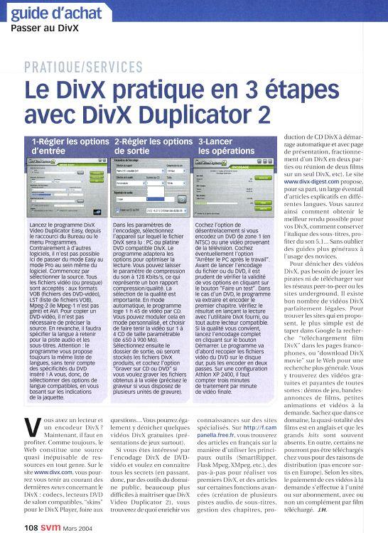 TÉLÉCHARGER DIVX DUPLICATOR 2 GRATUIT