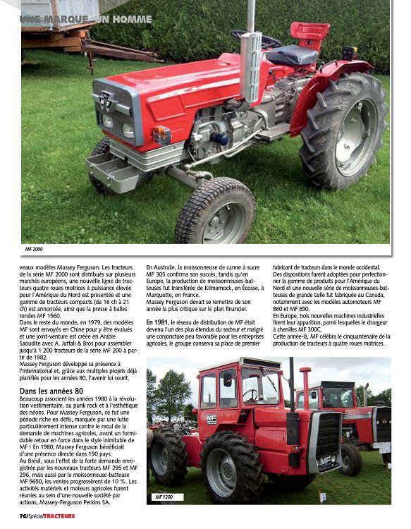 Micro tracteur massey ferguson mf 2000