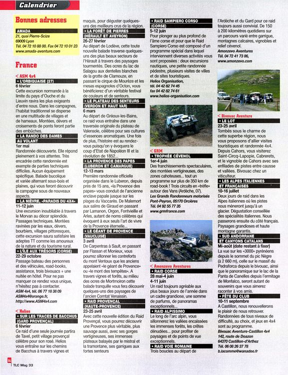 TLC Mag n°33 févmar 2011 Page 84 85 TLC Mag n°33 fév