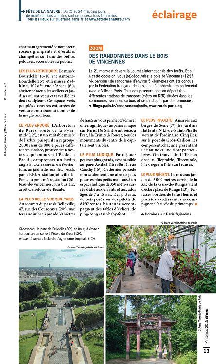 A Paris N 54 Mar Avr Mai 2015 Page 12 13 A Paris N 54 Mar Avr