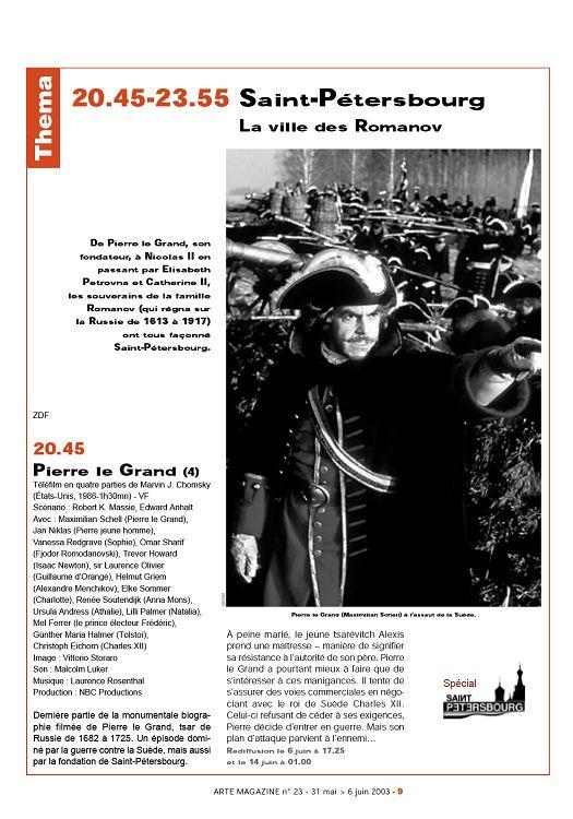 Arte Magazine N 23 31 Mai 2003 Page 8 9 Arte Magazine N 23