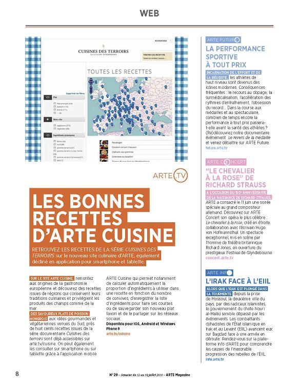 Arte Magazine N 29 12 Jui 2014 Page 8 9 Arte Magazine N 29