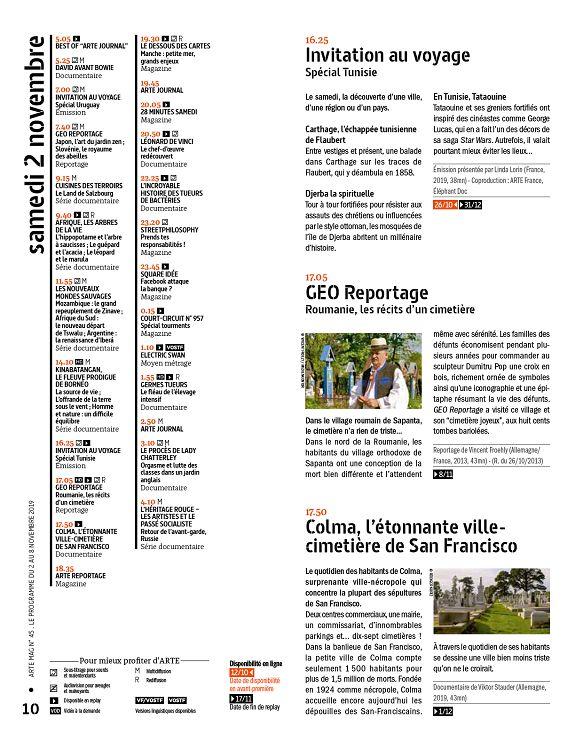 Arte Magazine N 45 2 Nov 2019 Page 10 11 Arte Magazine N 45